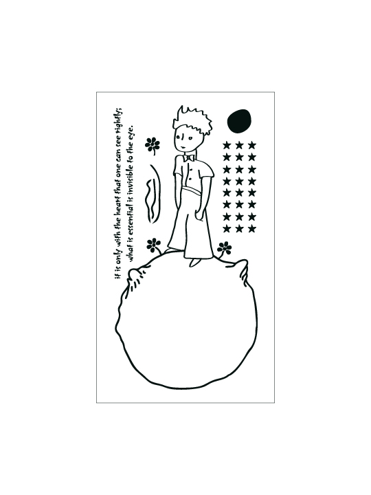 Vinylize Wall Deco - Little Prince #2 - Wall Sticker