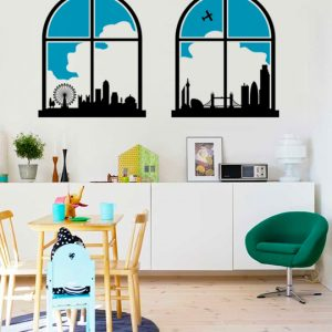 Vinylize Wall Deco - London Scape Wall Sticker