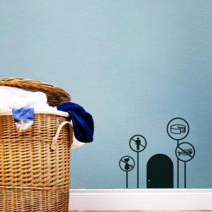Mini Mice Houses a Wall Sticker by Vinylize Wall Deco