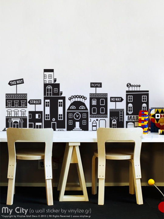 My City a Wall Sticker by Vinylize Wall Deco