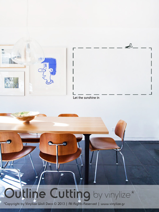 Outline Cutting a Wall Sticker by Vinylize Wall Deco