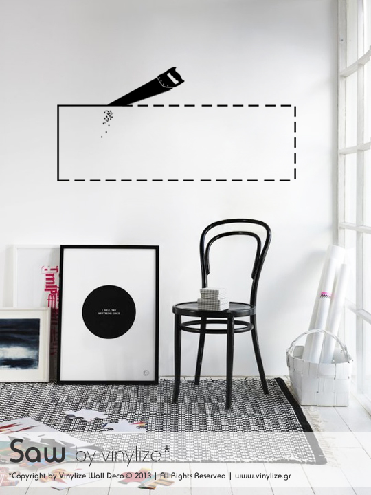 Saw a Wall Sticker by Vinylize Wall Deco