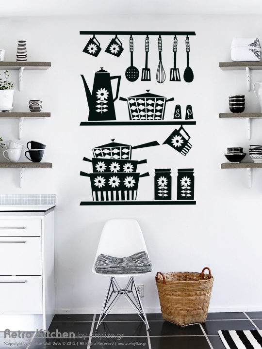 [:en]Decorate your walls with a wonderful sticker by Vinylize Wall Deco. Transform your kitchen walls with this retro kitchen set.[:el]Διακοσμήστε τον τοίχο σας με ένα υπέροχο αυτοκολλητο τοιχου από το Vinylize Wall Deco. Mεταμορφώστε την κουζίνα σας με αυτό το retro αυτοκόλλητο τοίχου.