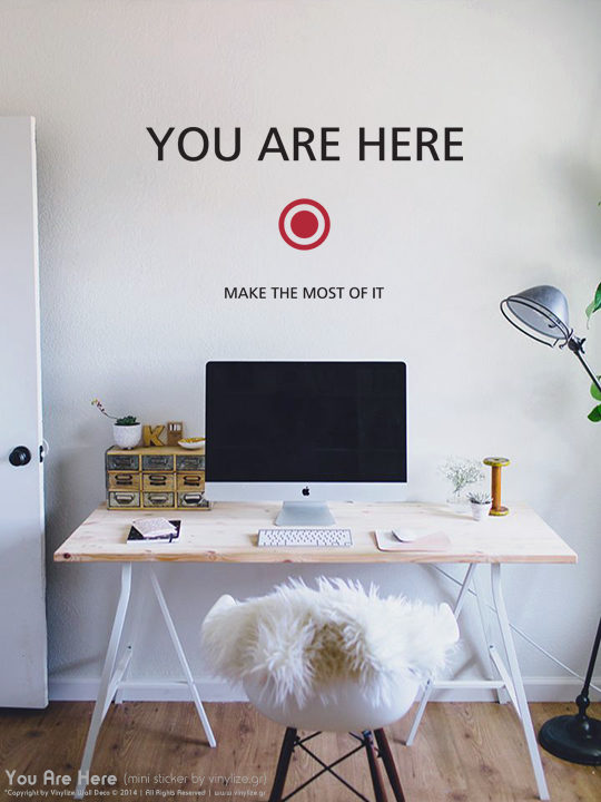 Mini You Are Here - Αυτοκόλλητο Τοιχου Vinylize Wall Deco