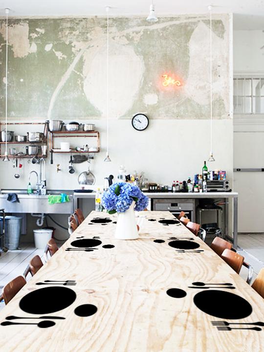 Mini Wall Sticker Dinner Set- Αυτοκόλλητο Τοιχου Vinylize Wall Deco