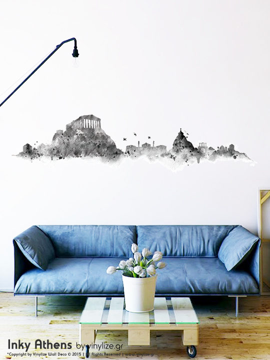 [:en]Inky Athens Wall Sticker by Vinylize Wall Deco[:el]Inky Athens - Αυτοκόλλητο Τοιχου Vinylize Wall Deco